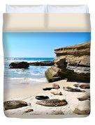 Seals Siesta On La Jolla Beach Duvet Cover