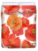 Seamless   Pattern Of Watercolor Poppy Flowers Duvet Cover