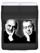 Sean Connery And Michael Caine Duvet Cover