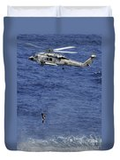 Search And Rescue Swimmers Duvet Cover