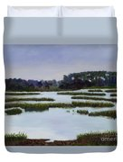 Searching Savannah Marsh By Marilyn Nolan- Johnson Duvet Cover