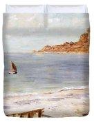 Seascape At Sainte Adresse  Duvet Cover