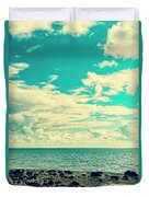 Seascape Cloudscape Instagramlike Duvet Cover