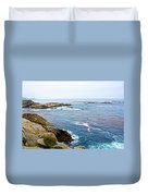 Seascape From Point Lobos State Reserve Near Monterey-california  Duvet Cover