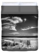Seascape In Black And White Duvet Cover