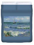 Seascape Near Les Saintes Maries De La Mer Arles June 1888 Vincent Van Gogh 1853  1890 Duvet Cover