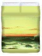 Seascape Sunset 1861 Duvet Cover