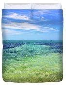 Seascape - The Colors Of Key West Duvet Cover