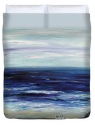 Seascape With White Cats Duvet Cover