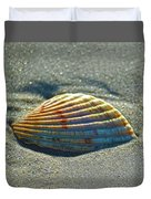Seashell After The Wave Square Duvet Cover