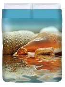 Seashell Reflections On Water Duvet Cover