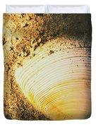 Seashells And Beach Colours Duvet Cover