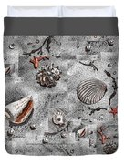 Seashells Collage Of Any Color Duvet Cover