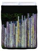 Seashore Fence Duvet Cover