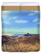 Seashore Shadows Duvet Cover