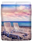 Seaside Chairs Duvet Cover
