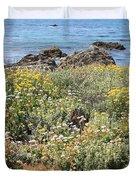 Seaside Flowers Duvet Cover