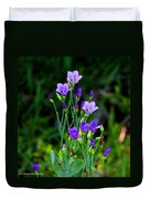 Seaside Gentian Wildflower  Duvet Cover