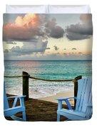 Seaside In Antigua Duvet Cover