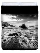 Seaside B/w  Duvet Cover