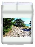 Seaside Path Duvet Cover