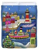 Seaside Santa Duvet Cover
