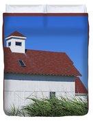 Seaside Schoolhouse Duvet Cover