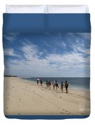 Seaside Walk Nosy Ve Madagascar Duvet Cover