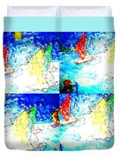 Seaside-regatta Duvet Cover