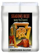 Seasons Best Way To Travel Vintage Poster Duvet Cover