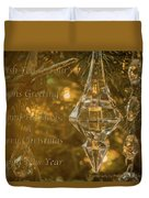 Seasons Greetings, Happy Holidays, Merry Christmas, Happy New Year Duvet Cover