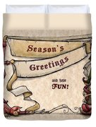 Season's Greetings Duvet Cover