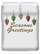 Seasons Greetings Merry Christmas Duvet Cover