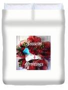 Seasons Greetings Old Skate Duvet Cover