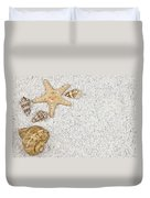 Seastar And Shells Duvet Cover by Joana Kruse