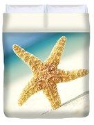 Seastar On Beach Duvet Cover