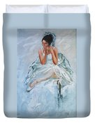 Seated Dancer Duvet Cover