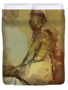 Seated Figure Duvet Cover