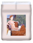 Seated Nude Duvet Cover by Don Perino