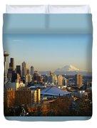 Seattle Cityscape Duvet Cover