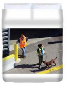 Seattle Dock Dog Workers 1 Duvet Cover