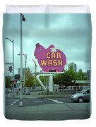 Seattle - Elephant Car Wash 2 Duvet Cover