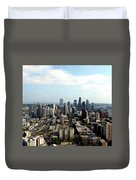Seattle From Above Duvet Cover