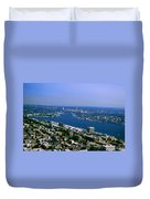 Seattle From Space Needle Duvet Cover
