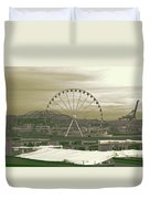 Seattle Great Wheel And Pier 57 Duvet Cover