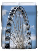 Seattle Great Wheel Duvet Cover