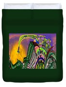 Seattle In Daliland Duvet Cover