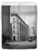 Seattle - Misty Architecture 2 Bw Duvet Cover