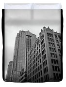 Seattle - Misty Architecture 3 Bw Duvet Cover
