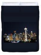Seattle Night Sky Duvet Cover